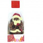 1 Père Noël 3D (9 cm - 55 g) - Chocolat au Lait
