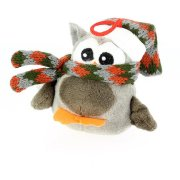 Suspension Peluche Hiboux Gris Bonnet (10 cm)