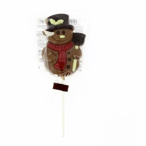 1 Sucette Chocolat au Lait Bonhomme de Neige (35 g)