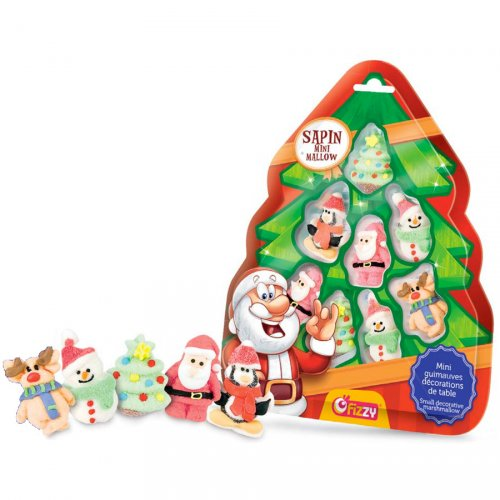 Sapin 8 Personnages de Noël (6 cm) - Marshmallows