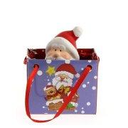Mini Sac Cadeau Père Noël (7 cm) - Céramique