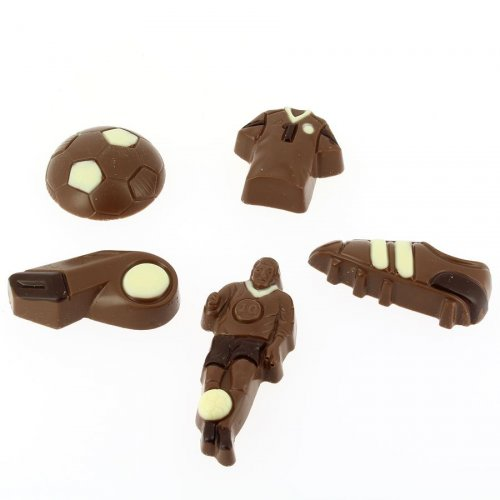 Coffret 5 Chocolats Foot 2D (100 g) - Lait