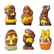 6 Chocolats de Pâques 2D (10 g) - Lait