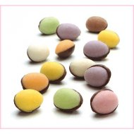 2 Oeufs Bicolores (3 cm) - Fondant/Chocolat