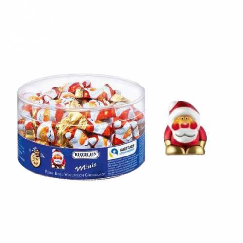 4 Minis Père Noël (3cm) - Chocolat