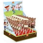 Sucette Animaux de la Ferme - Chocolat