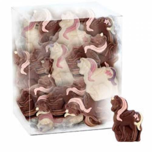 2 Licornes en Chocolat (17 g) - Blanc/Lait