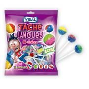 Sachet Sucettes Tache Langues Bi-Colors - 96g