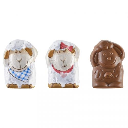 2 Mini Figurine Mouton en Chocolat au Lait 5g