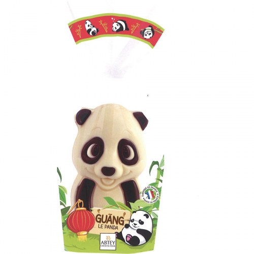 1 Panda 3D ( 13 cm - 130 g) - Chocolat Blanc