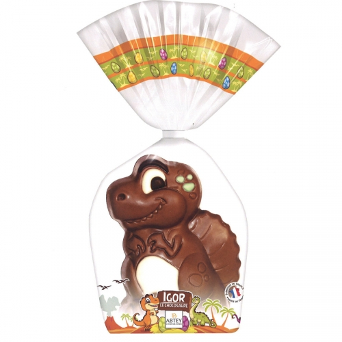 1 Chocosaure 3D ( 13 cm - 140 g) - Chocolat Lait