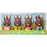 Coffret 4 Lapins 3D - Chocolat (40 g)