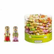 2 Mini Figurines Lapin Fille/Garçon en Chocolat au Lait 10g