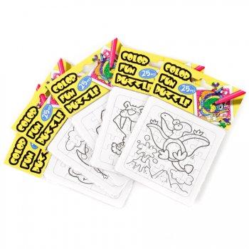 Puzzle dinosaure à colorier