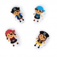 4 mini gommes Pirates