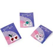 4 Bagues avec stickers