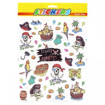 Grande planche de stickers Pirate