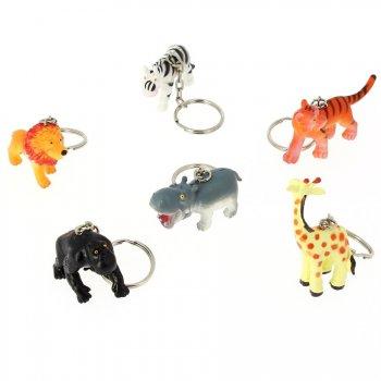 6 Porte clés Animaux de la jungle