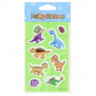 8 Stickers relief Dinosaures