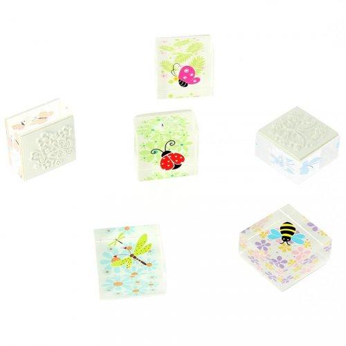 1 Tampon Fleurs et Insecte (sans encre)