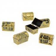 6 Mini Coffres à trésor (3,8 cm) - Plastique