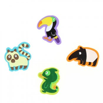 4 Gommes Animaux Exotiques