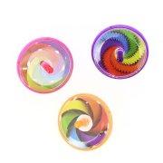 3 Toupies Torsade Rainbow (4 cm)