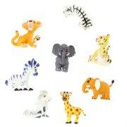 1 Figurine Animal de la jungle (6 cm) - Plastique