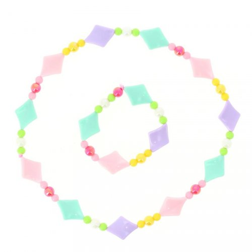 Collier + Bracelet Girly Fun - Plastique