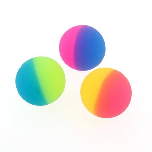 1 Balle Rebondissante Bicolore Givrée