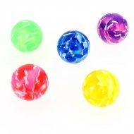 1 Balle Rebondissante Marbre Néon (4 cm)