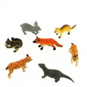 1 Figurine Animal Sauvage Canada (6 cm) - Plastique
