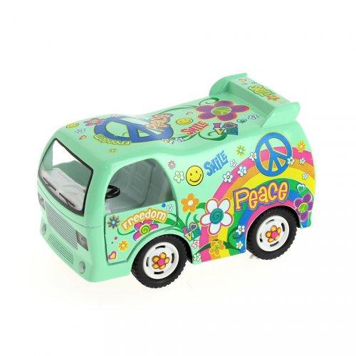 1 Bus Hippie à rétrofriction (9 cm)