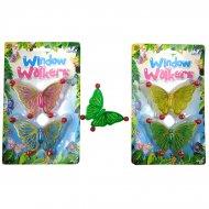 2 Papillons Grimpeurs Fenêtre