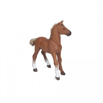 Figurine Poulain Pur-Sang Anglais Alezan