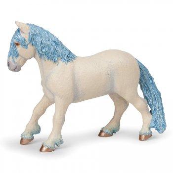 Figurine Poney Féerique Bleu