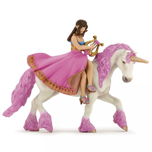 Figurine Princesse à La Lyre sur sa licorne