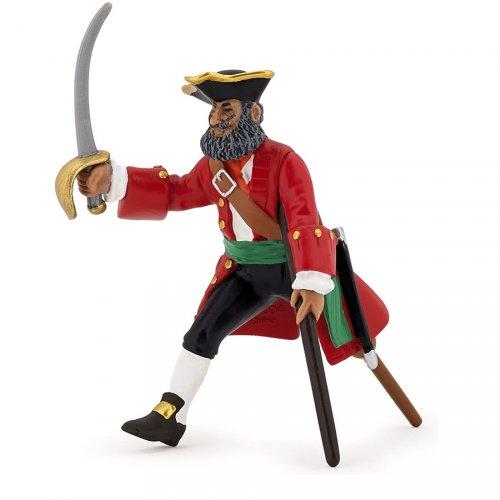 Figurine Capitaine Jambe de Bois Rouge