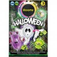 3 Ballons Lumineux LED Halloween à personnaliser