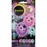 5 Ballons Lumineux LED Etoiles