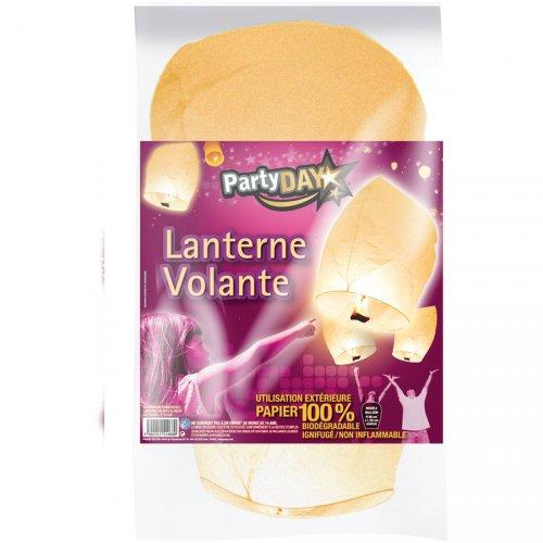 Lanterne Volante blanche Biodégradable