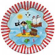 10 Assiettes Pirate Island