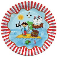 Contient : 1 x 10 Assiettes Pirate Island