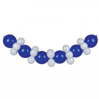 Guirlande Ballons Bleu et Blanc 3 mètres