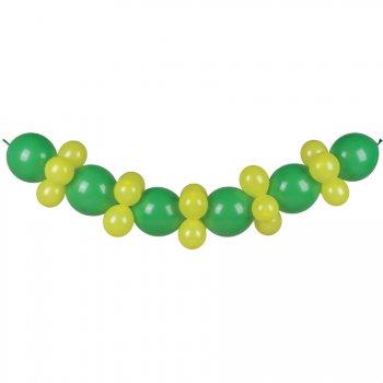 Guirlande Ballons Vert et Jaune 3 mètres