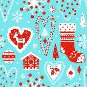 20 Serviettes Noël Bleu