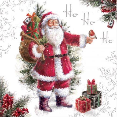 20 Serviettes Père Noël Vintage