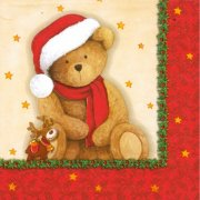 20 Serviettes Ourson Noël