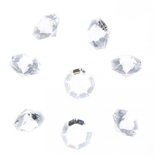 8 Diamants Transparents (3 cm) - Plastique