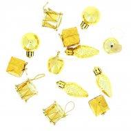 13 Mini Suspensions de Noël Or (2,5 cm)